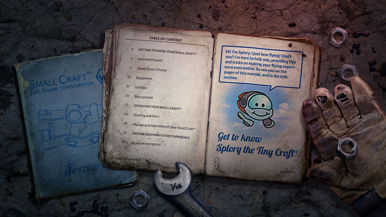Loading screens feature pages from the ship's various manuals.