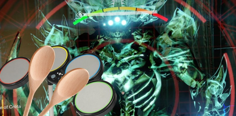 Destiny Player Solos Crota with Rock Band Drums