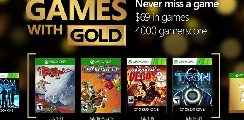Xbox Live Games With Gold For July 2016 Announced