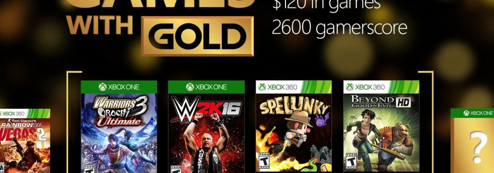 Xbox Games With Gold August 2016 Titles Announced