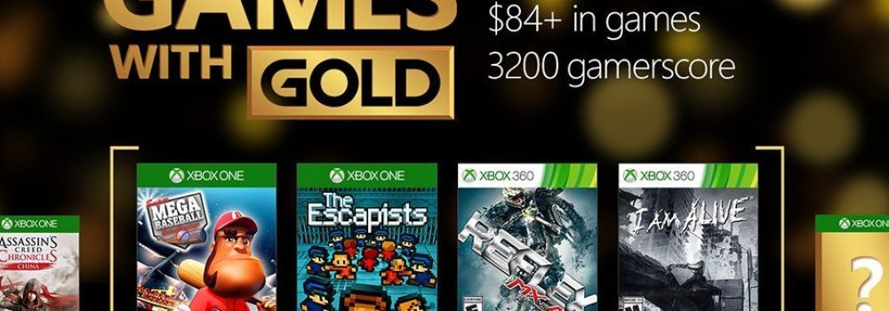 October Games With Gold Announced