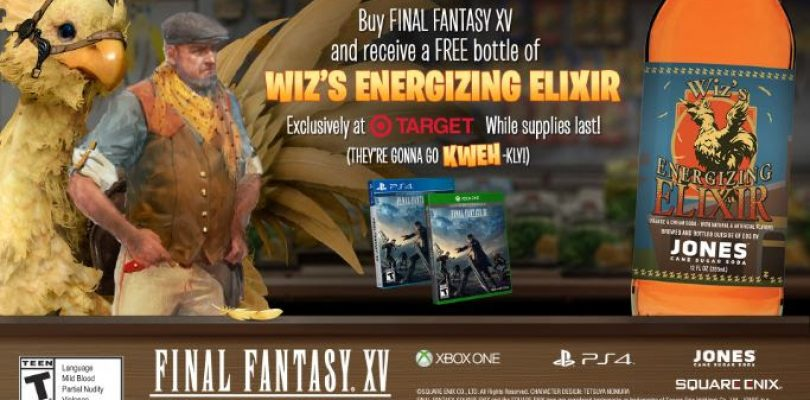 Obtain WIZ Energizing Elixir Free at Target with Purcahse of Final Fantasy XV