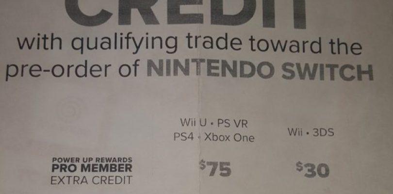 Gamestop Nintendo Switch Incentive