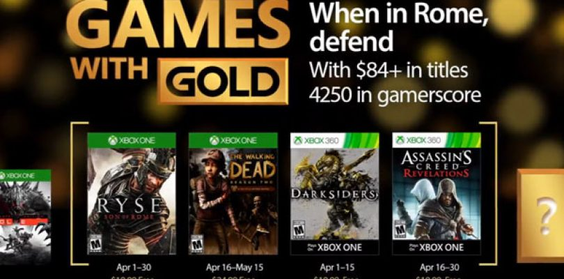April 2017's Games with Gold Offer Announced
