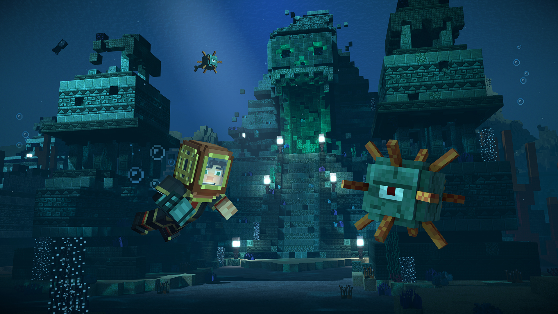 Minecraft Story Mode Season 2 Sea Temple Exterior