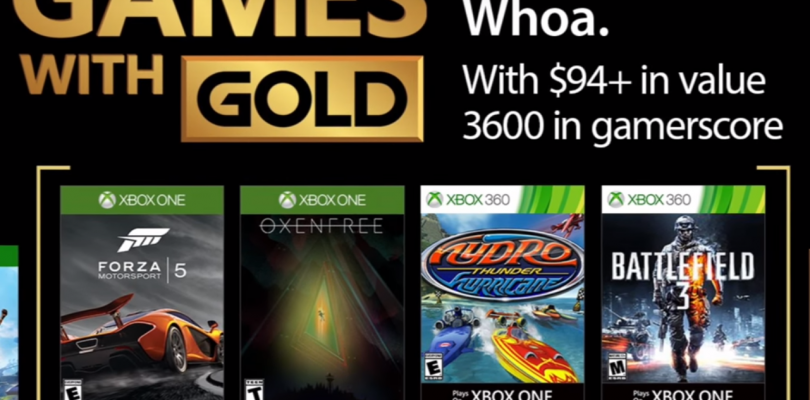 September 2017's Games with Gold Offers